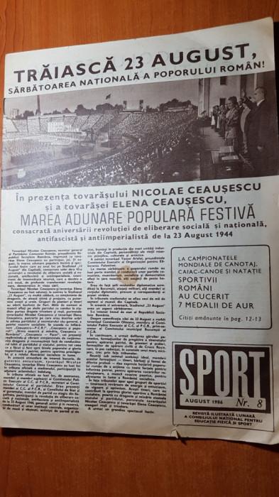revista sport august 1986-foto si articole de la marea defilarede pe stadion