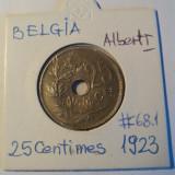 BELGIA  25  CENTIMES  1923  ALBERT I, Europa