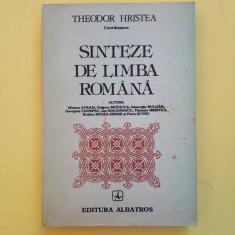 SINTEZE DE LIMBA ROMANA = THEODOR HRISTEA - AN 1984