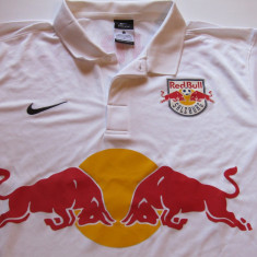 Tricou NIKE fotbal - RED BULL SALZBURG (Austria) - Tricou echipa fotbal, Marime: L, Culoare: Alb, De club, Maneca scurta