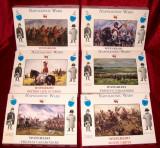 Lot 6 cutii Soldatie figurine plastic calareti Napoleon War Waterloo