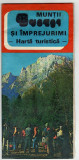 MUNTII BUCEGI SI IMPREJURIMI HARTA TURISTICA PLIANT PROSPECT  1981