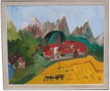 Tablou de mari dimensiuni semnat de pictorul modernist Franz X. Ecker