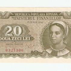 ROMANIA 20 LEI / 1950 - Bancnota romaneasca