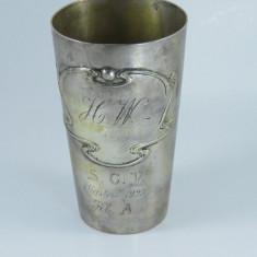 Pahar pt apa sau vin din argint masiv 1923, Tacamuri