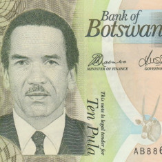 Botswana 10 Pula 2010 P.30b UNC - Obiecte decorative