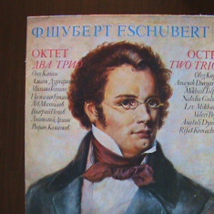 SCHUBERT-Oktet & trio pentru vioară și violoncel Album 2buc - Disc pick-up vinil - Muzica Clasica Melodia