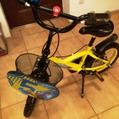Bicicletă copii Turbo Yellow 14