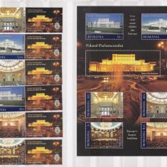 Romania 2011 palatul parlamentului serie + bloc MNH w49 - Timbre Romania, Nestampilat