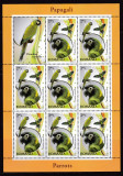 Romania 2011 fauna  pasari  papagali  minicoli    MNH  w49, Nestampilat