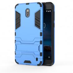 Husa Hybrid Stand Nokia 2 - Husa Telefon, Albastru