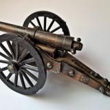 Ascutitoare tun veche metalica cupru de colectie 2