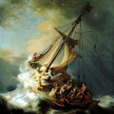 CANVAS PRINTAT - REMBRANDT - THE STORM ON THE SEA OF GALILEE (1633), Portrete