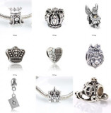 SET 9 Charm talismane pandantive  pt bratara PANDORA plct argint, Femei