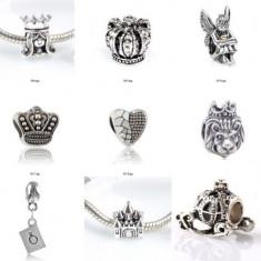 SET 9 Charm talismane pandantive pt bratara PANDORA plct argint - Bratara argint pandora, Femei