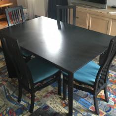 Masă cu 4 scaune - Masa living