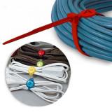 6 coliere organizare cabluri - Colier inox