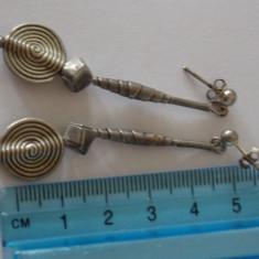Cercei argint vintage -3049 - Bijuterie veche