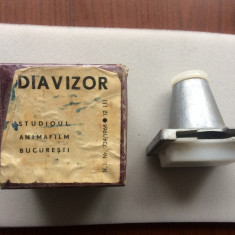 diavizor studioul animafilm aparat vechi si cutie pentru diapozitive diafilm