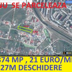 GALATA, 2874 mp, 27m deschidere, sau schimg cu apartamet + diferenta - Teren de vanzare, Teren intravilan