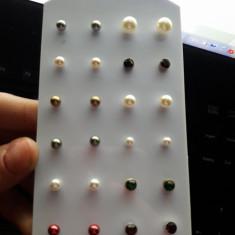 Set 12 perechi tinte - Cercei perla