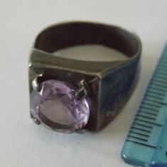 Inel argint vintage cu zirconiu -2991