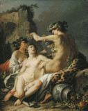 CANVAS PRINTAT - REPRODUCERE - JEAN -BAPTISTE MARIE PIERRE - AUTUMN, Nud