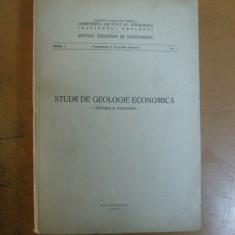 Studii de geologie economica carbuni si minereuri Bucuresti 1967 Banat Vulcan - Carte Geografie