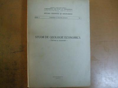 Studii de geologie economica carbuni si minereuri Bucuresti 1967 Banat Vulcan foto