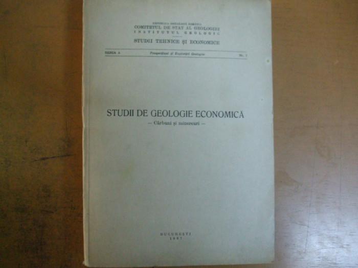 Studii de geologie economica carbuni si minereuri Bucuresti 1967 Banat Vulcan