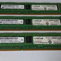 Ram 2 Gb DDR3 / Crucial 1066 Mhz PC3-8500E / Non-ECC / Unbuffered /Testate (44Q) - Memorie RAM