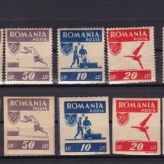 ROMANIA 1946   LP 199  OSP  SERIE  DANTELATA  SI  NEDANTELATA  MNH