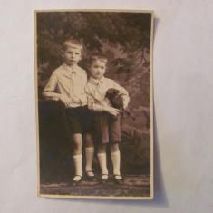 "PVM - Ilustrata SIBIU Hermanstadt ""Doi baieti / baietei"" necirculata 1932"