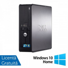 Calculator Refurbished Dell Optiplex GX780 SFF, Intel Core 2 Quad Q9400, 2.66GHz, 4GB DDR3, 250GB SATA, DVD-ROM + Windows 10 Home - Monitor LCD HP