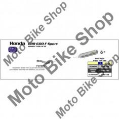 MBS Final toba Aluminiu Honda CBR 600 F S '99-'03, omologata, Cod Produs: 71607AOAR - Toba esapament Moto