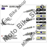 MBS Final toba carbon Arrow Thunder Carby Honda CB600 Hornet 07-13, omologata, Cod Produs: 71722MKAR