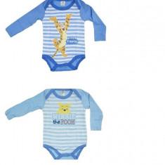 Set body cu maneca lunga baieti Winnie the Pooh, 1-2 ani, 2-3 ani, 3-6 luni, 6-9 luni, 9-12 luni, Multicolor