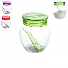 Bol cu lingurita pentru zahar - Bol sticla