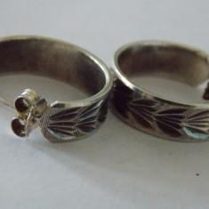 Cercei argint vintage -3034 - Bijuterie veche