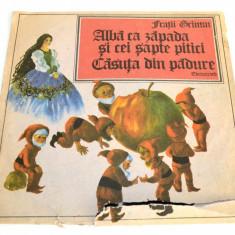 Disc vinil LP - Povesti- Fratii Grimm, Alba ca zapada - Casuta din padure - Muzica pentru copii