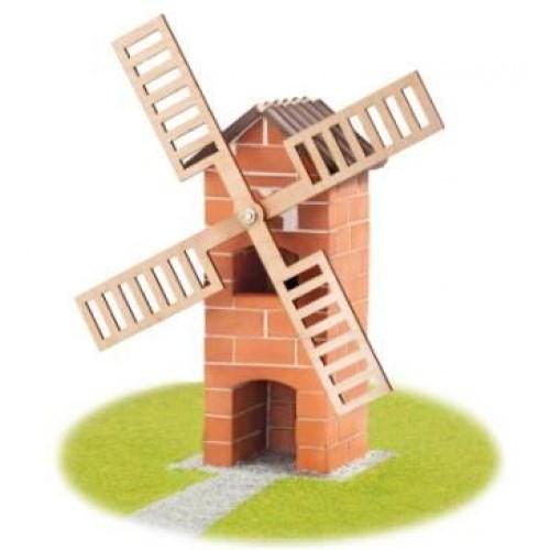Resigilat - Set De Constructie Din Caramizi - Moara De Vant - Teifoc
