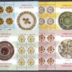 Romania 2007 ceramica farfurii - 1 minicoli MNH w49 - Timbre Romania, Nestampilat