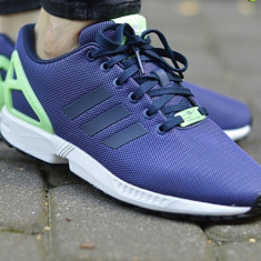 Adidasi 100 % originali ADIDAS ZX FLUX- adidasi copii - Adidasi dama, Culoare: Din imagine, Marime: 37.5, Textil