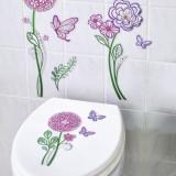 Stickere decorative perete baie Flori