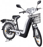 Bicicleta electrica Laser 36V 12Ah autonomie 33km culoare argintiuPB Cod:E00002-L-5