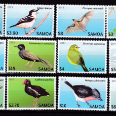 Samoa 2013 fauna pasari MI 1105-1116 MNH w49 - Timbre straine, Nestampilat