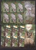 Romania 2013 fauna  pasari rapitoare   minicoli    MNH  w49, Nestampilat
