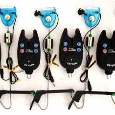 Set 4 Avertizori-Senzori FL cu 4 Swingere MK2 Ilumminated - Avertizor pescuit