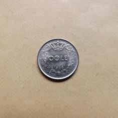 Romania 100 Lei 1943 - MR 1 - Moneda Romania, Nichel