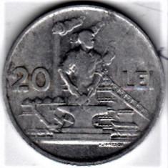 20 lei 1951 VF+ RPR (13) - Moneda Romania, Aluminiu